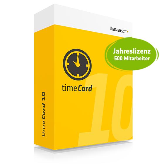 TIMECARD 10 ZEITERFASSUNG FÜR 500 MITARBEITER JAHRESLIZENZ